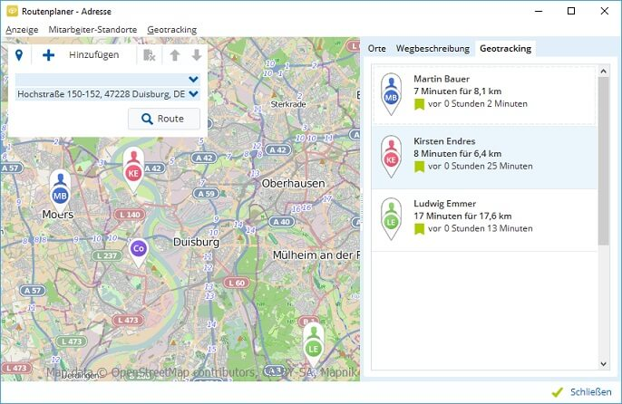 Tourenplanung per Geotracking